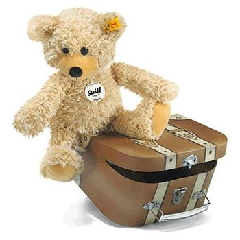 Steiff CHARLY Teddybär mit Reisekoffer