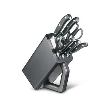 Victorinox Messerblock mit 5 Messer + Schere
