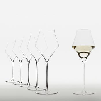 Josephinenhütte No.4 Champagnergläser – mundgeblasen