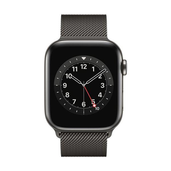 Apple Watch Series 6 GPS+Cellular Edelstahl – 44mm, MilanaiseImmagine