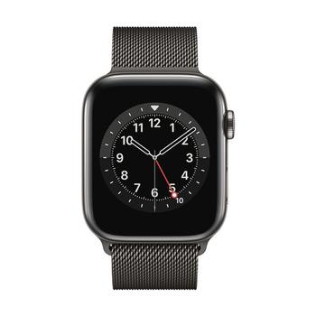 Apple Watch Series 6 GPS+Cellular Edelstahl – 44mm, Milanaise