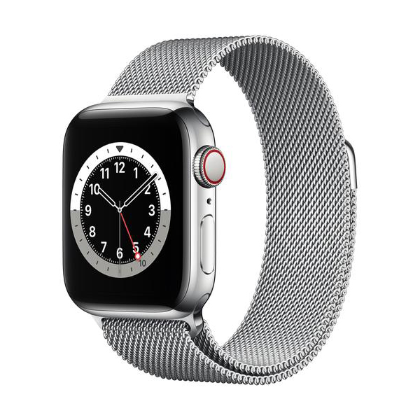 Apple Watch Series 6 GPS+Cellular Edelstahl – 40mm, MilanaiseBild